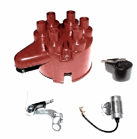 TKM715 Ignition Tune-Up Kit, 6-230 Tornado Engine with 24 Volt System, M715 Kaiser Jeep 4x4 Models