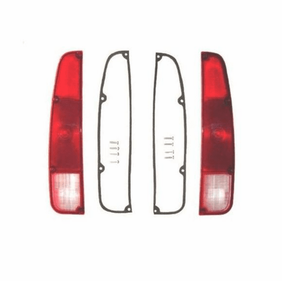 JT-LENS-SET Right and Left Side Tail Light Lens, fits 1974-1988 Jeep J10, J20 Trucks