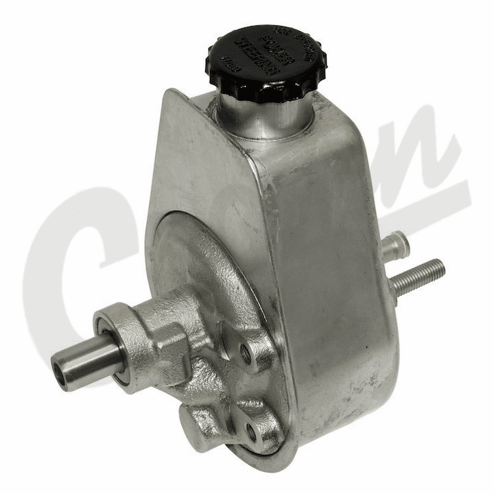 52037568 Power Steering Pump, 1980-1991 Jeep Grand Wagoneer, Cherokee SJ, J-Series Truck w/ Attached Reservoir