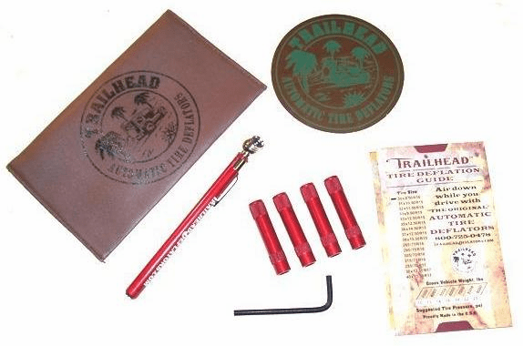 TH-DKR Trailhead Automatic Tire Deflator Kit, 5-20 PSI, Red, 4 Piece, Tire Deflator Kit