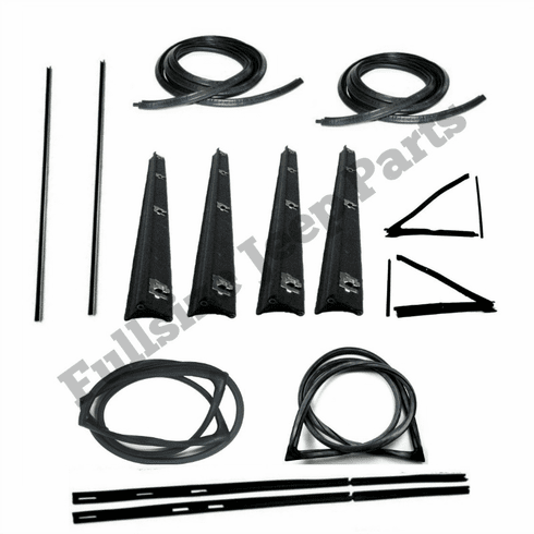 WKJTRUCK Window and Door Weatherstrip Kit for 1974-1988 Jeep J10 and J20 J-Trucks