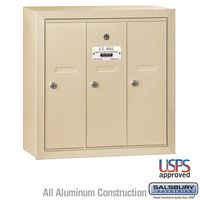 3 Door Sandstone Vertical Apartment Mailbox