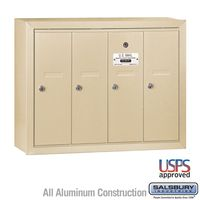 4 Door Sandstone Vertical Apartment Mailbox