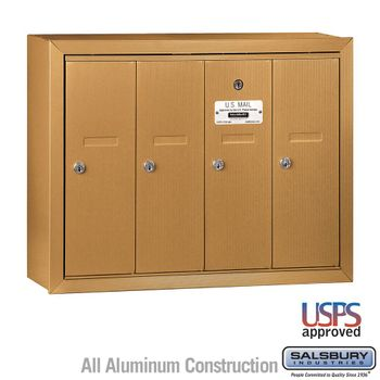 4 Door Vertical Apartment Mailboxes