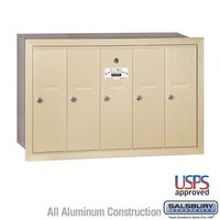 5 Door Sandstone Recess Mount Apartment Mailbox