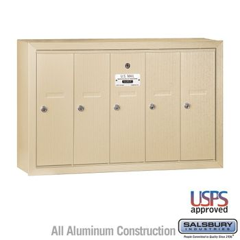 5 Door Vertical Apartment Mailboxes