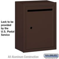 Apartment Vertical Outgoing Letter Box Bronze