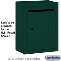 Apartment Vertical Outgoing Letter Box Green