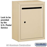 Apartment Vertical Outgoing Letter Box Sandstone