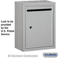 Apartment Vertical Outgoing Letter Box Silver