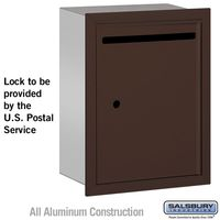 Apartment Vertical Outgoing Recessed Letter Box Bronze