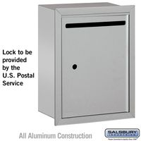 Apartment Vertical Outgoing Recessed Letter Box Silver