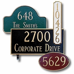 Browse address plaques to compliment your new mailbox.