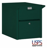 Column Locking Mailbox Front and Rear Opening Green