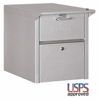 Column Locking Mailbox Front and Rear Opening Silver