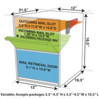 Column Package Mailbox Dimensions