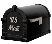 Keystone Mailbox Signature Series Black w/Satin Nickel