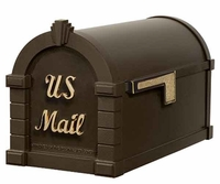 Keystone Mailbox Signature Series Bronze w/Polished Brass