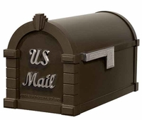 Keystone Mailbox Signature Series Bronze w/Satin Nickel
