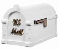 Keystone Mailbox Signature Series White w/Antique Bronze