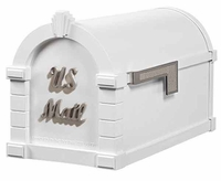Keystone Mailbox Signature Series White w/Satin Nickel