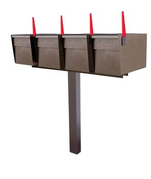 Mail Boss High Security Locking Quad Mailbox