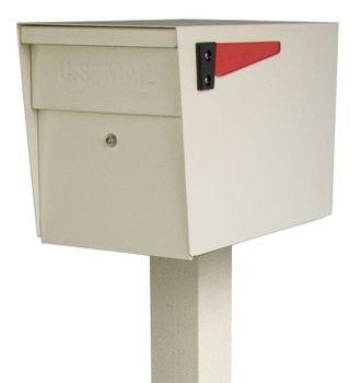 Mail Boss Locking Mailbox with Post White