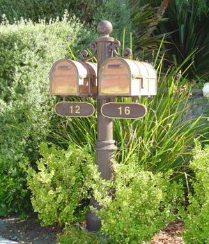 Newport Double Mailbox and Post