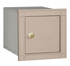 Non Locking Mailbox Column Insert Beige Plain