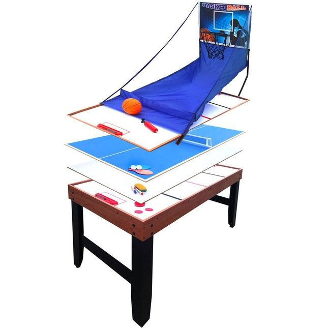 4-In-1 Multi Game Table with Adjustable Leg Levelers