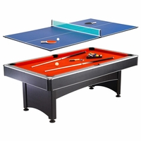 Maverick 7-Ft 2-in-1 Multi-Game Pool Table with Table Tennis & Accessories