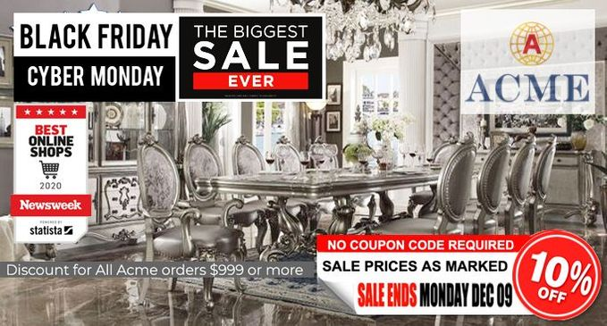 Acme Furniture Holiday Sale Promotion