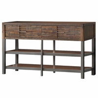 Adelia Modern Rustic 2-Drawer TV Stand in Reclaimed Oak Finish