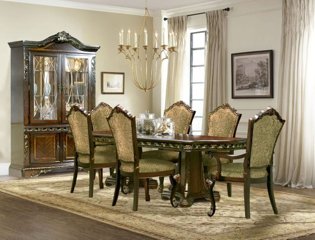 Andrea Cherry Finish Formal Dining Room, Dining Room Table And Chair Sets