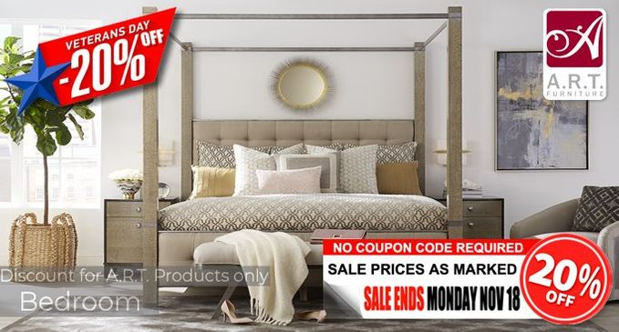 A.R.T. Bedroom Furniture Sale Additional 20% OFF!