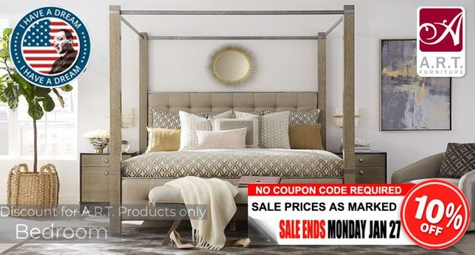 A.R.T. Bedroom Furniture Sale Additional 10% OFF!