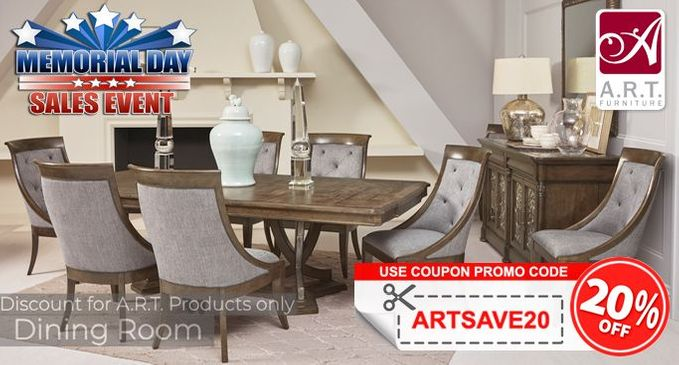 A.R.T. Dining Room Furniture SALE Save an additional 20% OFF!
