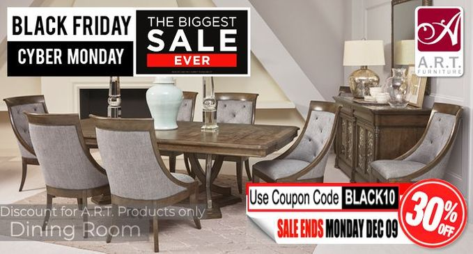 A.R.T. Dining Room Furniture SALE Save an additional 30% OFF!
