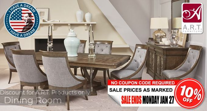 A.R.T. Dining Room Furniture SALE Save an additional 10% OFF!