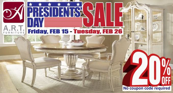 Art Furniture Presidents Day Sale 2019