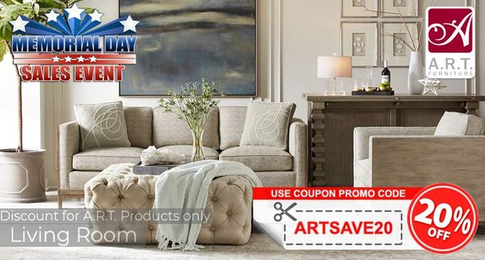 A.R.T. Living Room Furniture Save 20% OFF