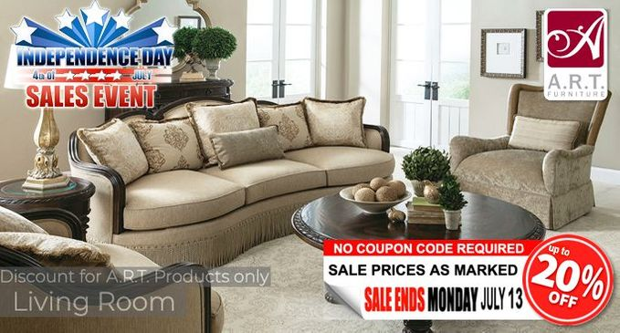 A.R.T. Living Room Furniture Save up to 20% OFF