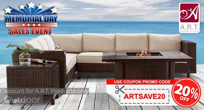 A.R.T. Memorial Day Sale SAVE an additional 20% on Luxury Outdoor Furniture