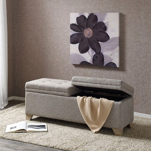 Ashcroft Storage Bench Solid Wood,Metal Grey Multi-Color Transition Madison Park