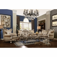 French Provincial Victorian Inspired Traditional Formal Living Room Sets