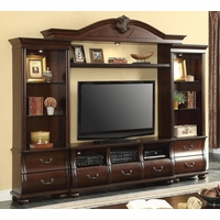 "Bartholomew Transitional 55"" Entertainment Media Center in Dark Cherry Finish"