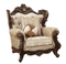 Belmont Luxury Old World Winged Back Chair Carved Wood Frame