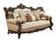 Belmont Old World Winged Back Sofa & Loveseat Ornate Carved Wood Frame