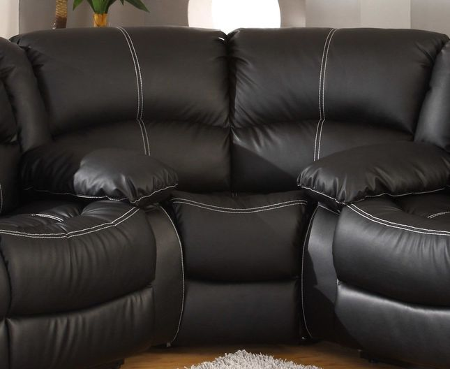 Bromham Traditional Black Faux Leather