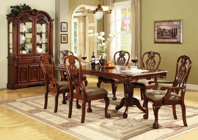 Brussels Traditional Dining Room Furniture Table and Chairs Set